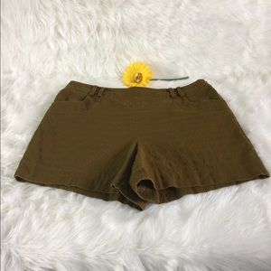 Hi Rise Shorts Color Brownish Green by elevenses